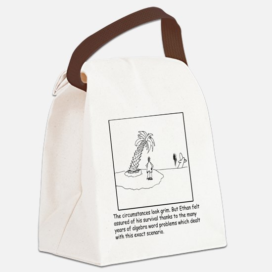 Desert Island Joke (TS-B) Canvas Lunch Bag