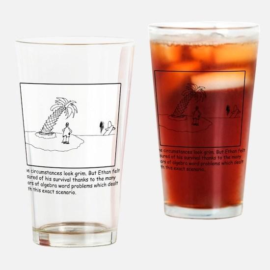 Desert Island Joke (TS-B) Drinking Glass