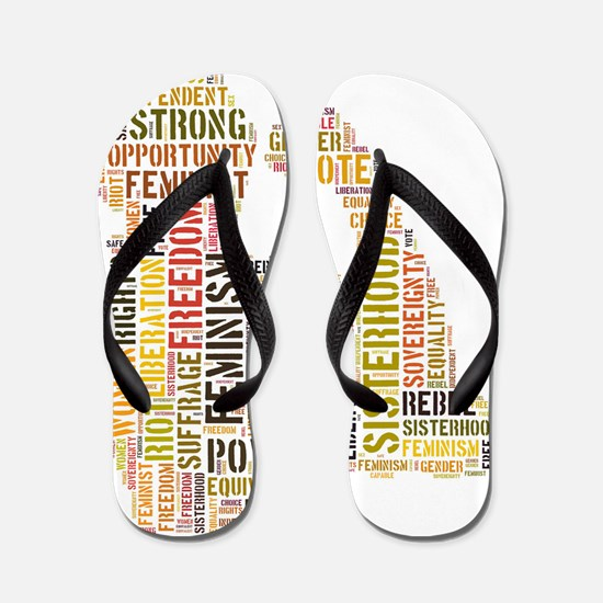 Feminism equals Strength Flip Flops