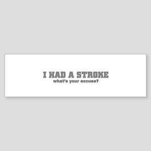 i had a stroke Bumper Sticker