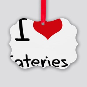 I love Eateries Picture Ornament