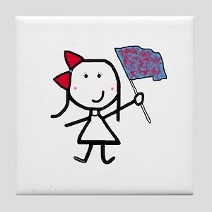 Girl & Color Guard Tile Coaster