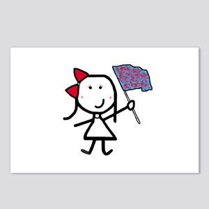 Girl & Color Guard Postcards (Package of 8)