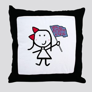 Girl & Color Guard Throw Pillow