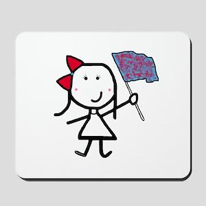 Girl & Color Guard Mousepad