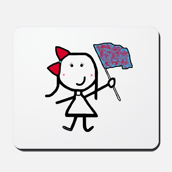 Girl & Color Guard Mousepad