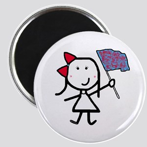 Girl & Color Guard Magnet