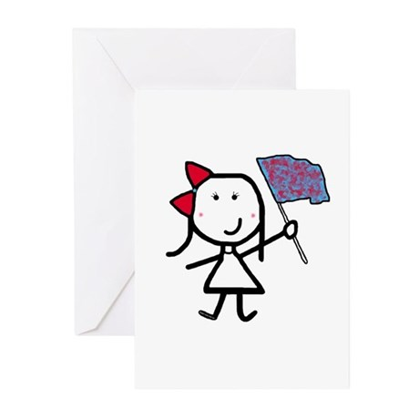 Girl & Color Guard Greeting Cards (Pk of 10)