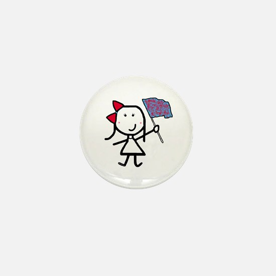 Girl & Color Guard Mini Button