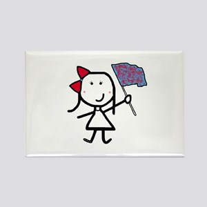 Girl & Color Guard Rectangle Magnet