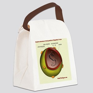 Putative HCV particle structure Canvas Lunch Bag
