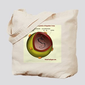 Putative HCV particle structure Tote Bag