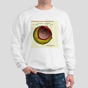 Putative HCV particle structure Sweatshirt