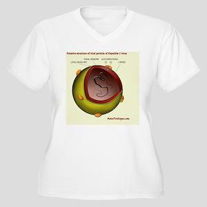 Putative HCV part Women's Plus Size V-Neck T-Shirt