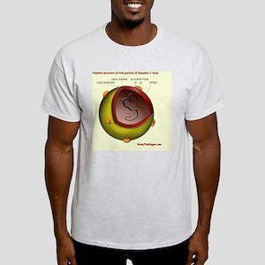 Putative HCV particle structure Light T-Shirt