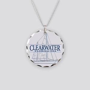 Clearwater Florida - Necklace Circle Charm