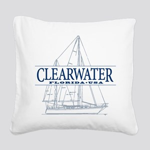 Clearwater Florida - Square Canvas Pillow