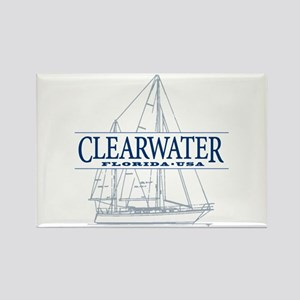 Clearwater Florida - Rectangle Magnet