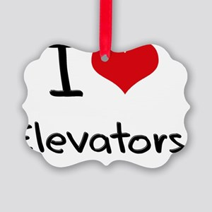 I love Elevators Picture Ornament