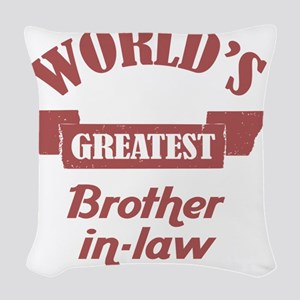 Worlds Greatest Big Brother-In Woven Throw Pillow