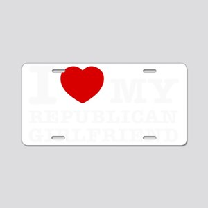 republican Girlfriend Aluminum License Plate