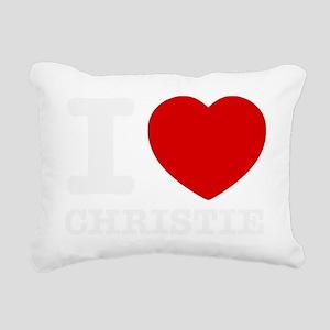 I love Chris Christie Rectangular Canvas Pillow