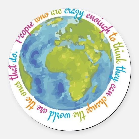 Change the world Round Car Magnet