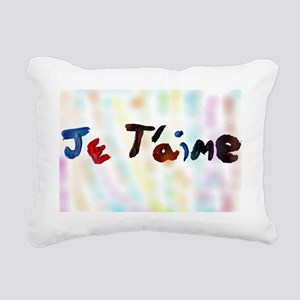 je t'aime Rectangular Canvas Pillow