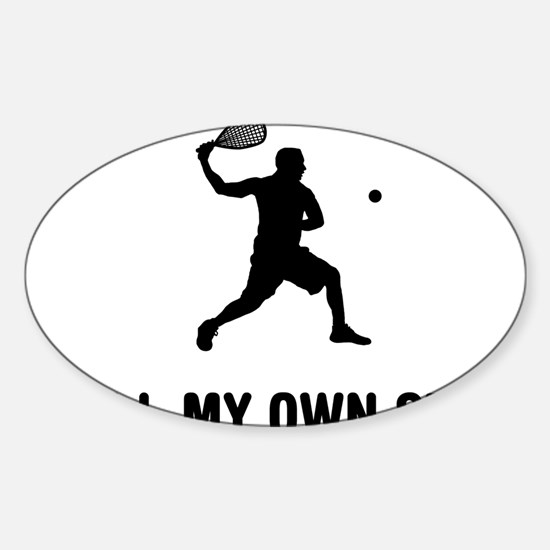 Racquetball-03-A Sticker (Oval)