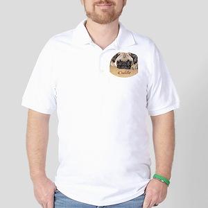 Adorable iCuddle Pug Puppy Golf Shirt