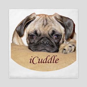 Adorable iCuddle Pug Puppy Queen Duvet
