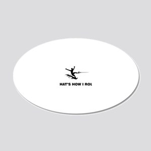 Waterskiing-12-A 20x12 Oval Wall Decal