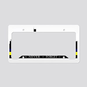 Boston Strong with blue and y License Plate Holder
