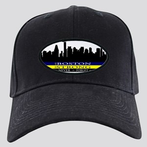 Boston Strong with blue and yellow Black Cap
