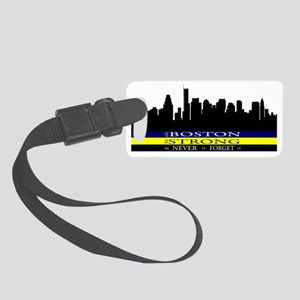 Boston Strong with blue and yell Small Luggage Tag