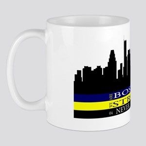 Boston Strong with blue and yellow Mug