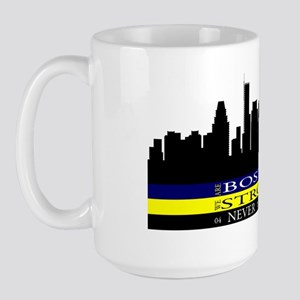 Boston Strong with blue and yellow Large Mug