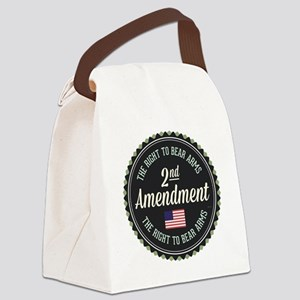 Second Amendment Canvas Lunch Bag