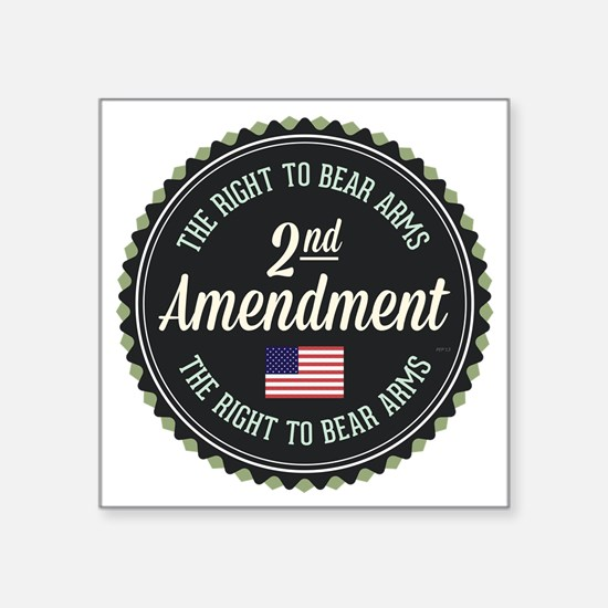 "Second Amendment Square Sticker 3"" x 3"""