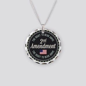 Second Amendment Necklace Circle Charm