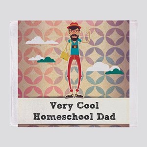Very Cool Homeschool Dad Throw Blanket