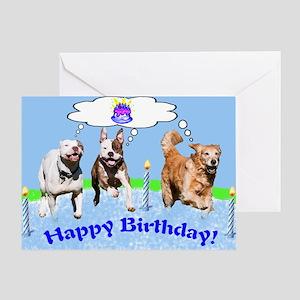 birthday dogs Greeting Cards