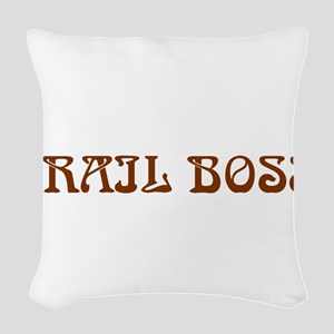 Trail Boss Woven Throw Pillow