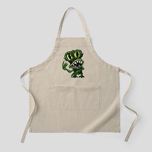 Green alien monster Apron