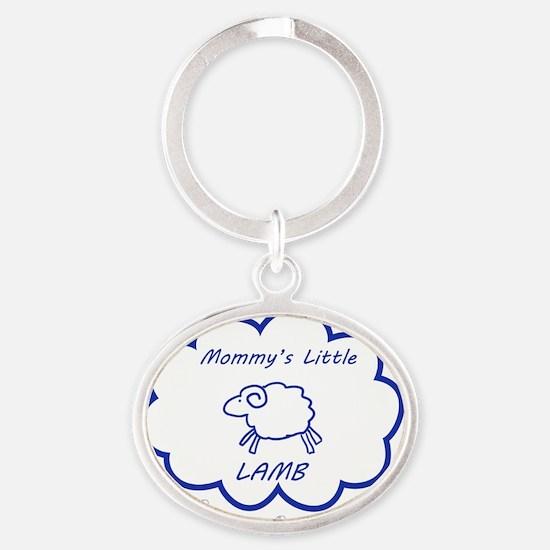 Little Lamb Oval Keychain