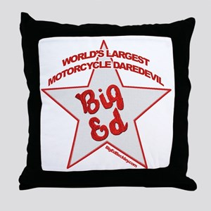 Big Ed Beckley star logo Throw Pillow