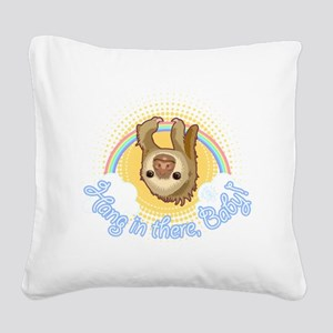 Hang In There Sloth Square Canvas Pillow