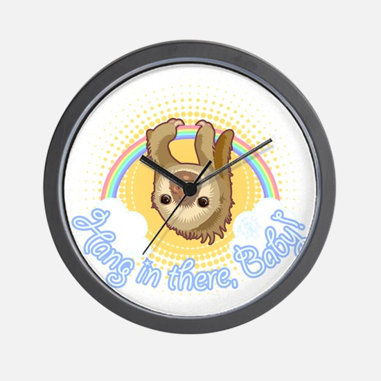 Hang In There Sloth Wall Clock
