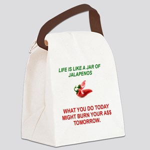Jalapeno Humorous Canvas Lunch Bag