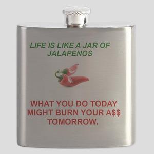 Jalapeno Humorous Flask